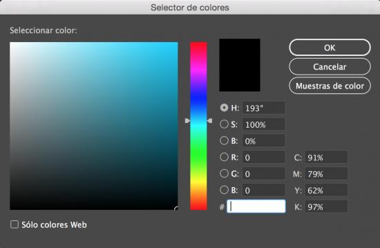 Selector de color Adobe
