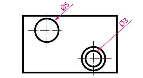 Acotación de círculos mediante líneas de referencia
