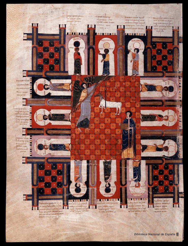 Beato de Liébana, ilustración Comentarios al Apocalipsis