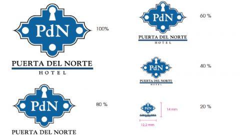 test reducción del logotipo