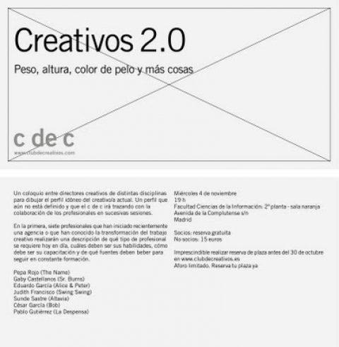 Creativos 2.0, coloquio sobre el nuevo perfil del creativo.