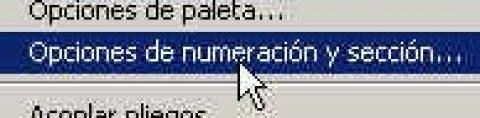 Numeración de páginas en Indesign