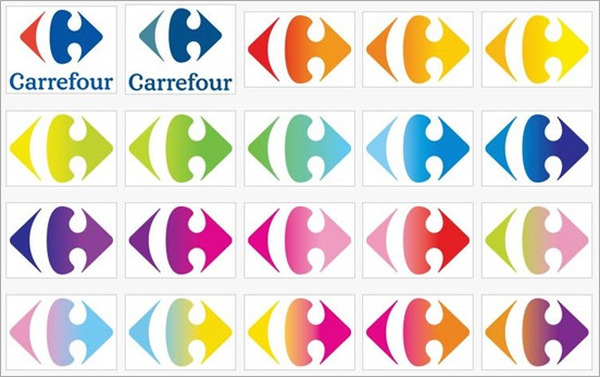 Carrefour color y degradados