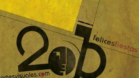 Felicitaciones 2010 estilo Bauhaus.