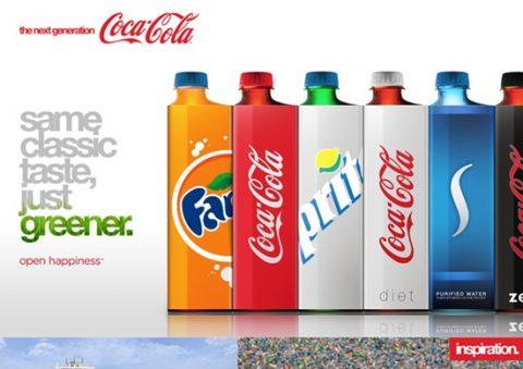 El mismo sabor, aunque más verde. Pack Coca-Cola.