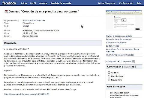 Connect: Creación template en WordPress