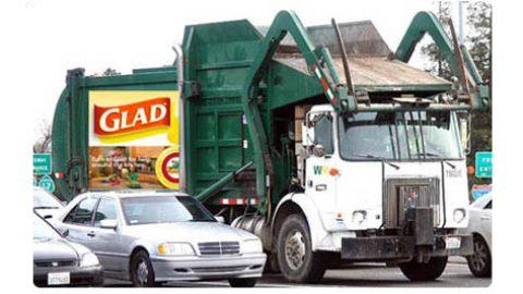 La publicidad en los camiones de basura