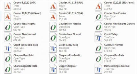 En tipografía, lo mejor OpenType