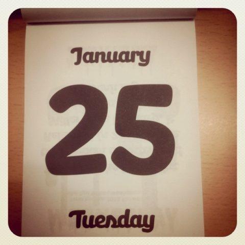 25 de enero, Kalico.