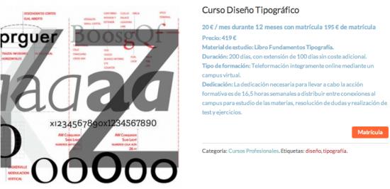 Curso Diseño Tipográfico