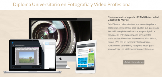 Diploma Universitario en Fotografía y Video Profesional