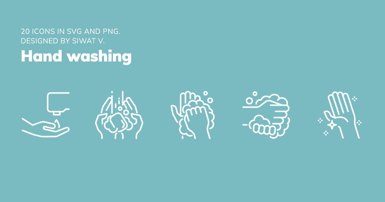 Iconos Covid, recomendaciones lavado de manos