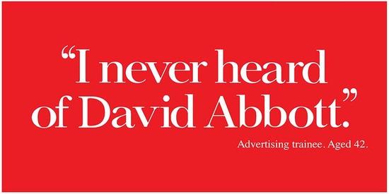 """""""Nunca más se supo de David Abbott"""" Aprendiz publicitario. 42 años"""