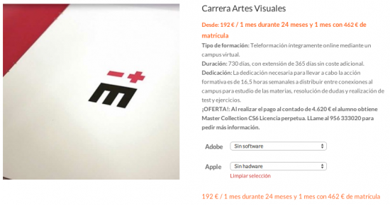 Carrera en Artes Visuales. ¡OFERTA HASTA EL 30 DE JUNIO!