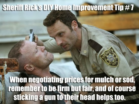 Sheriff Rick Grimes. The Walking Dead.
