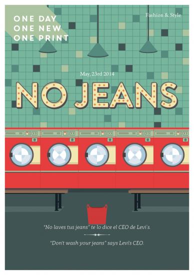 No laves tus jeans, 23 de mayo 2014.