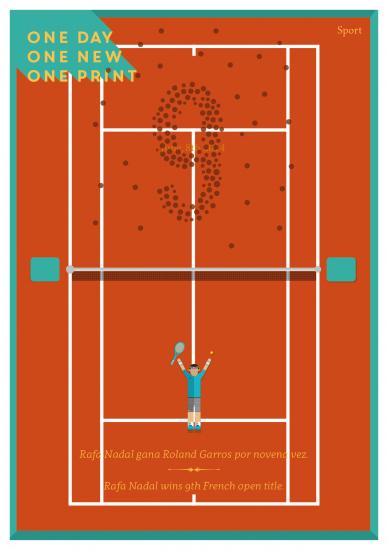Rafa Nadal y 9º Roland Garros.