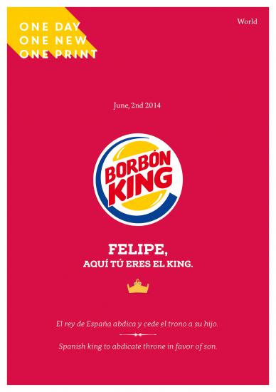 2 de junio, el rey abdica.
