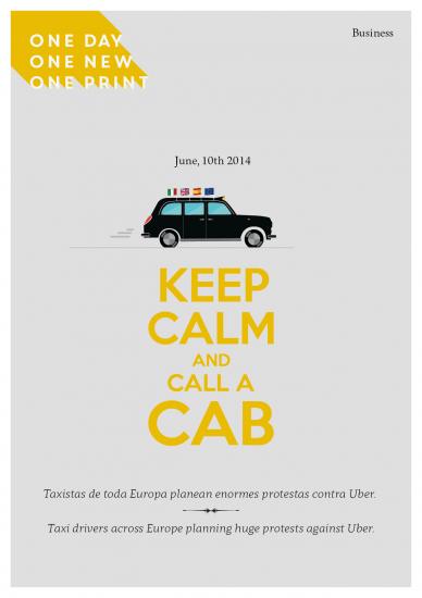 10 de junio 2014, taxistas contra Uber.