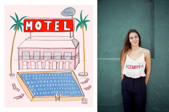 """""""Los nadadores"""" blusas y camisetas con Barbara Torrijos."""