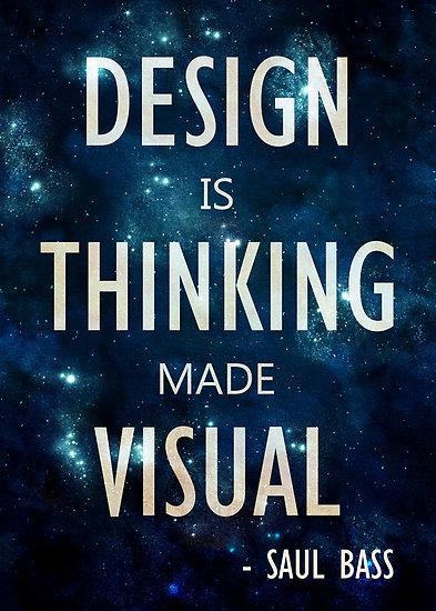 El diseño es el pensamiento hecho visual