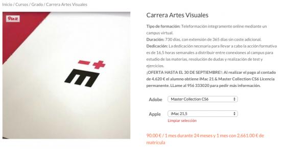 Caerrera en Artes Visuales, ¡OFERTA HASTA EL 30 DE SEPTIEMBRE!