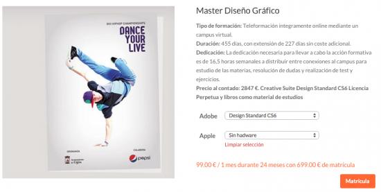 Master en Diseño Gráfico Digital.