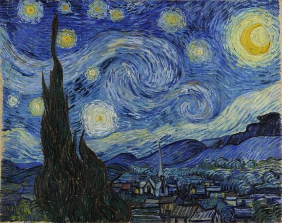 'Noche estrellada' de Van Gogh.