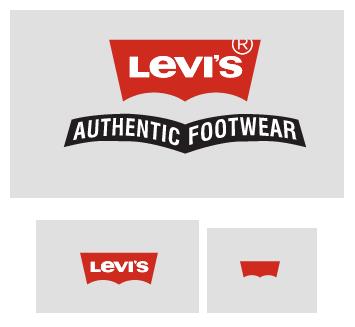 La marca Levis y algunas de sus versiones responsive.
