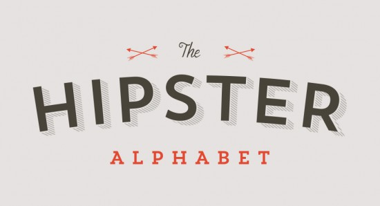 The hipster alphabet