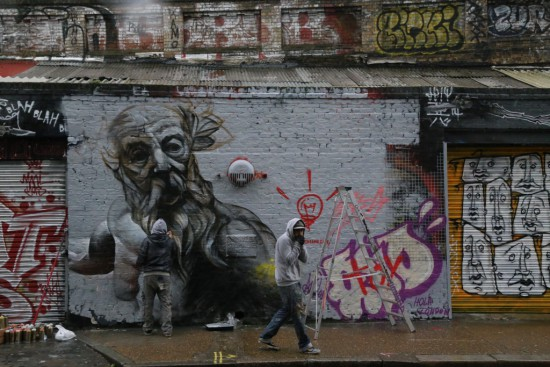 Londres, calle Sclater, homenaje a grafitero King Robbo.