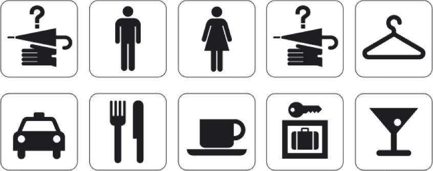 El sistema de pictogramas del AIGA.