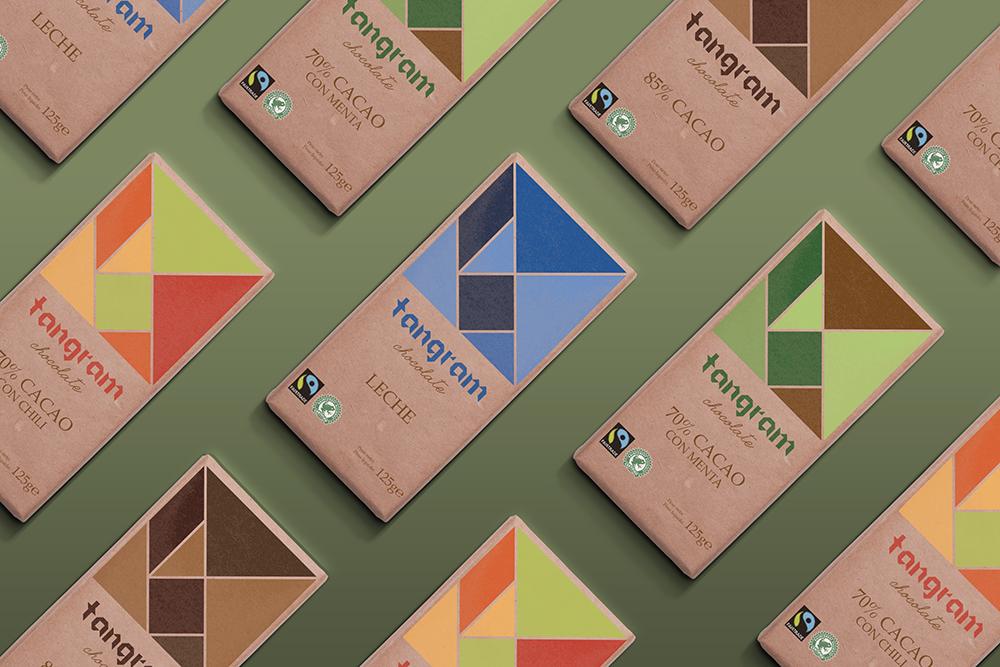 Diseño de Packaging Tangram, realizado por nuestra alumna Felicite Noinville.