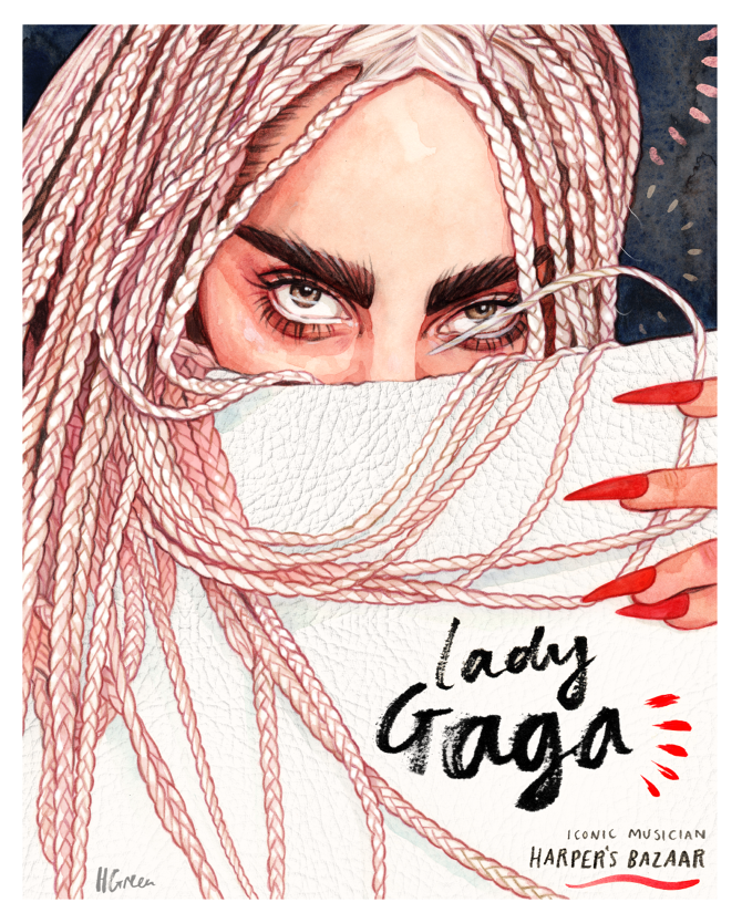 September 2014 Filed under lady gagaharpers bazaarart pop.