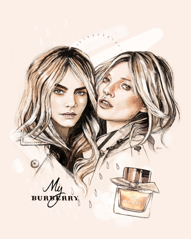 September 2014 Filed under editorialfashion illustration My Burberry.