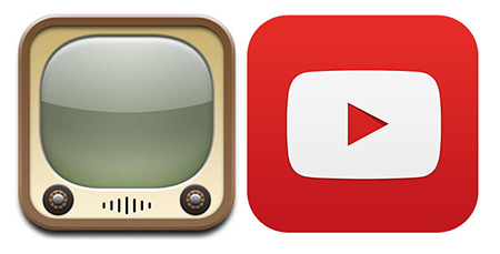 YouTube icono app.