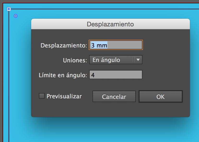 Desplazamiento de un objeto vectorial.