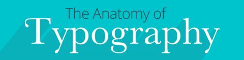 Glosario ilustrado de términos tipográficos.
