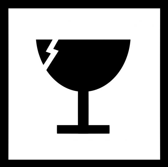 Símbolo para indicar la fragilidad del contenido.