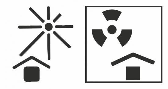 Manténgase en sitio fresco/radioactividad.