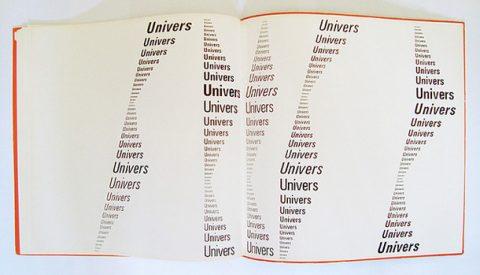 """""""El libro de la tipografía"""" Adrian Frutiger. Univers."""