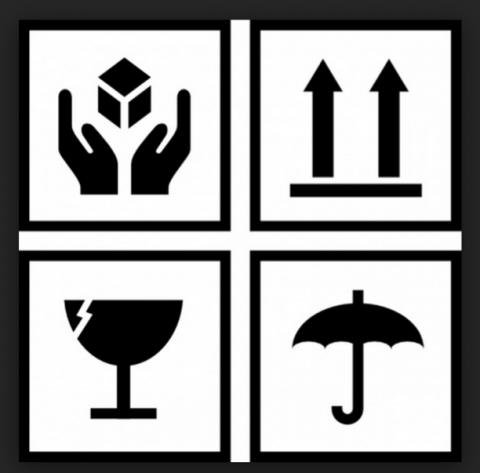 Simbología para la manipulación y transporte.