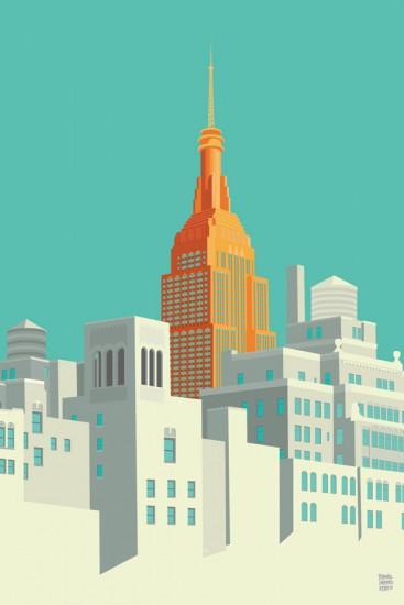 Remko Heemskerk, Vista desde la ciudad de Nueva York Highline.