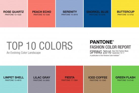 Colores Pantone primavera 2016.