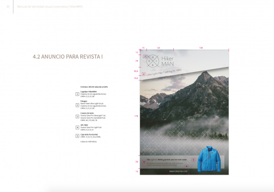 Publicidad. Manual Hiker Man de Samara Khoudari.