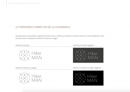Versiones color. Manual Hiker Man de Samara Khoudari.