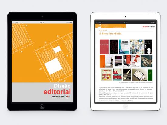 Portada y capítulo 1 del iBook de Diseño editorial.