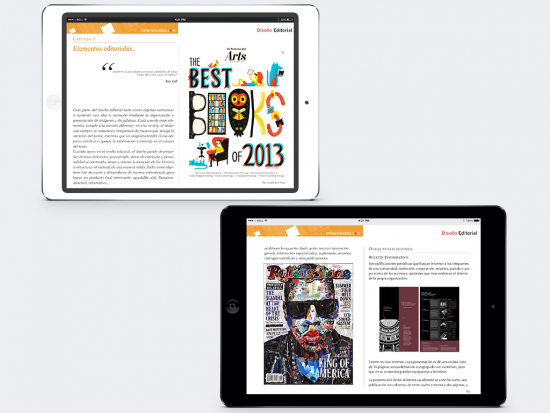 Capítulo 3 e interior del iBook.