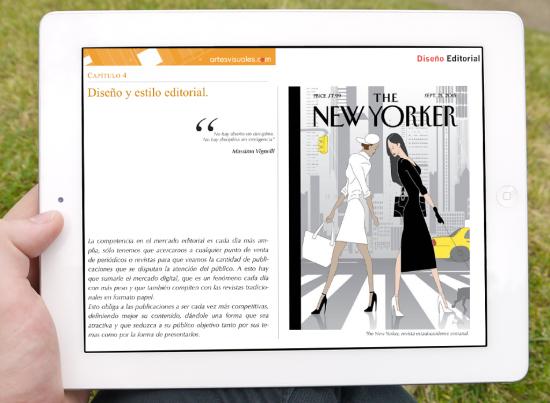 Capítulo 4 del iBook Diseño editorial.