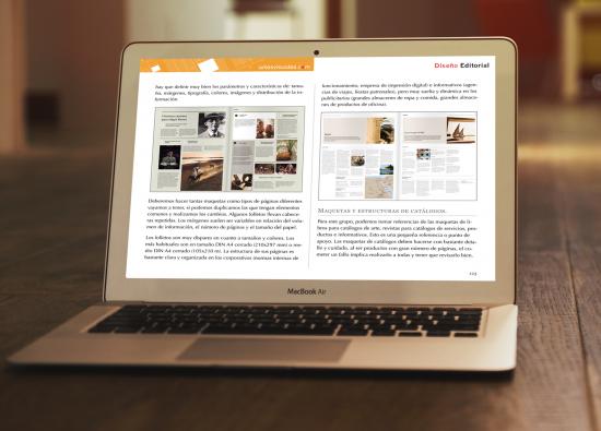 Página interior Diseño editorial.